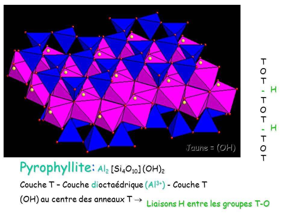 Pyrophyllite: Al2 [Si4O10] (OH)2
